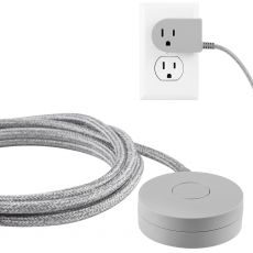 Cordinate Tabletop Switch with 6ft. Braided Cord, Gray