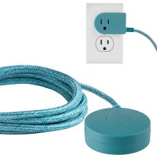 Cordinate Tabletop Switch with 6ft. Braided Cord. Teal