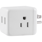 Cordinate 3-Outlet 2-USB Wall Tap with Surge Protection, White